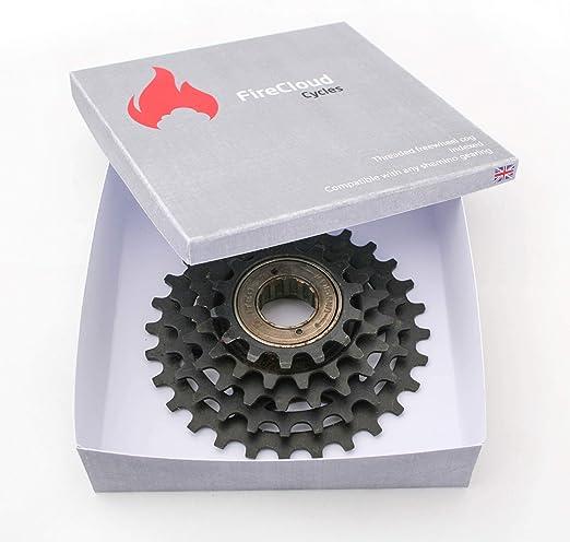"""threaded hub FireCloud 6 SPEED Bike Bicycle FREEWHEEL COG 1//2/"""" x 3//32/"""" Chain"""