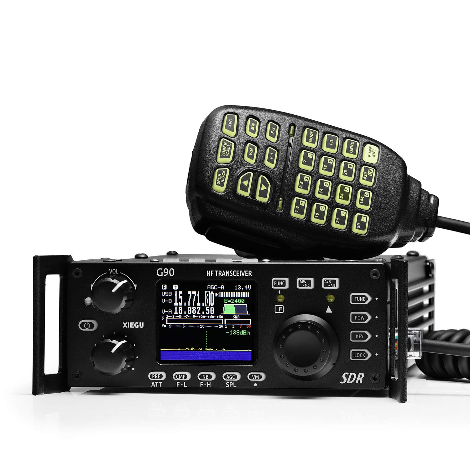 Xiegu G90 HF Amateur Radio Transceiver 20W SSB/CW/AM/FM 0.5-30MHz SDR Structure with Built-in Auto Antenna Tuner by Xiegu