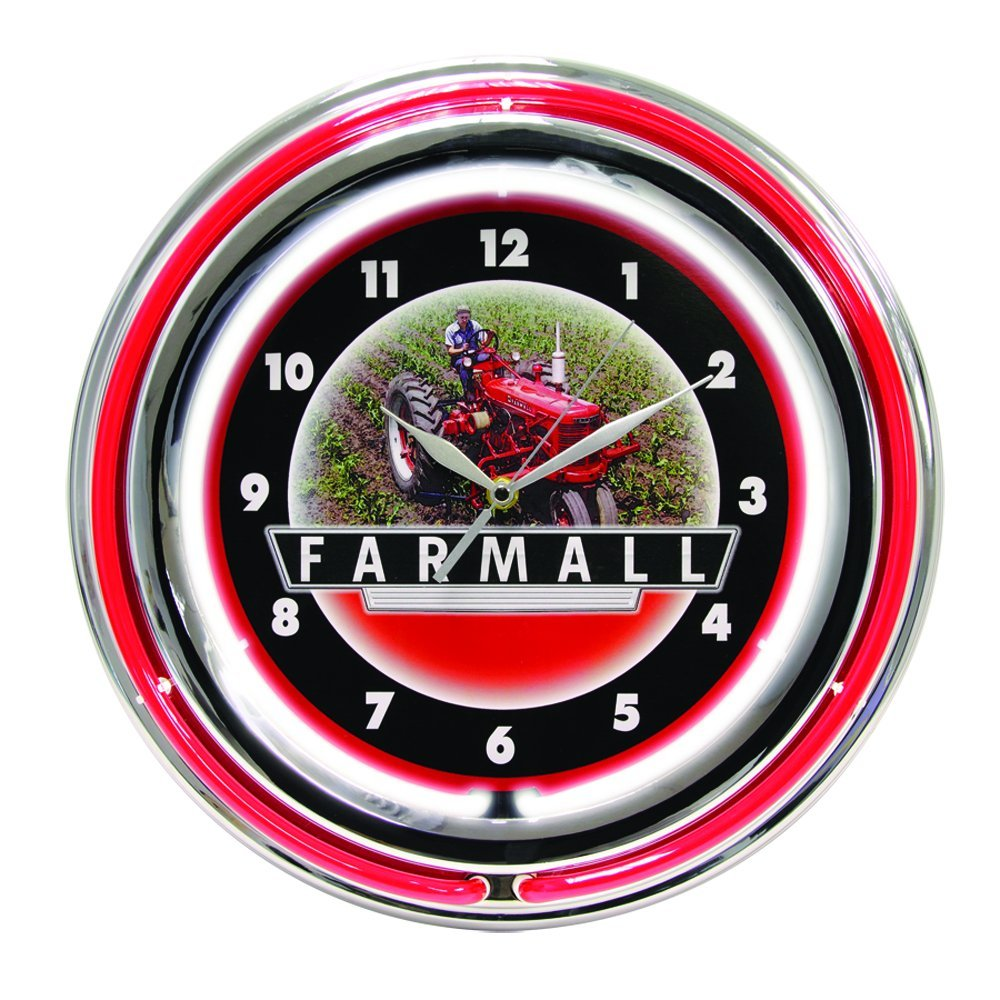 Amazon international harvester mccormick farmall 15 inch amazon international harvester mccormick farmall 15 inch double neon wall clock home kitchen amipublicfo Images