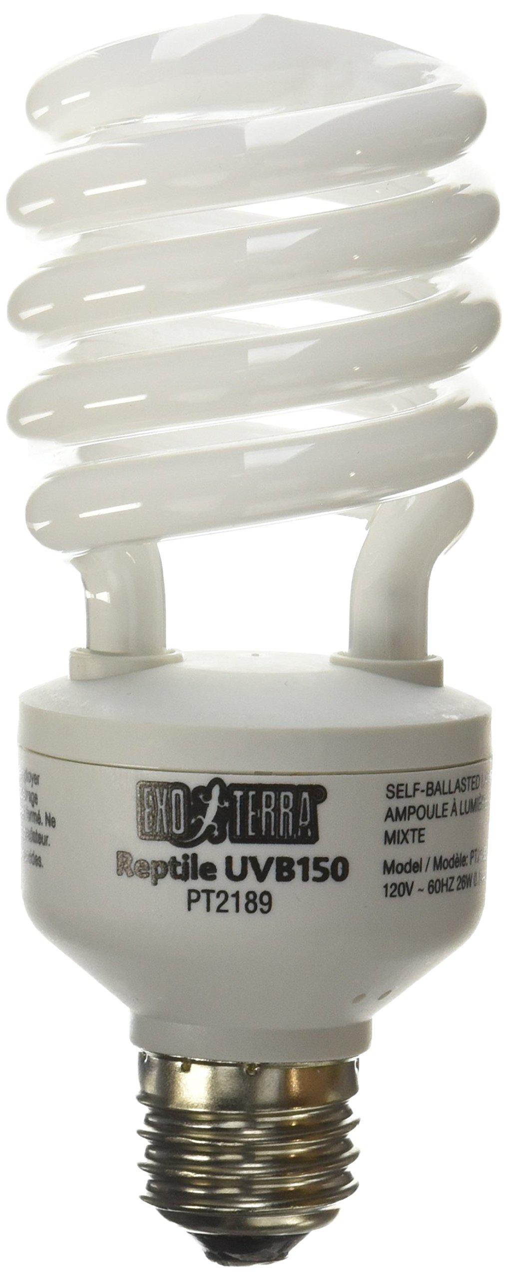 Exo Terra Repti-Glo 10.0 Compact Fluorescent Desert Terrarium Lamp, 26-Watt