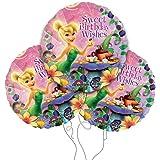 "Disney's Tinkerbell Happy Birthday 18"" Round Mylar Balloon 3pk"