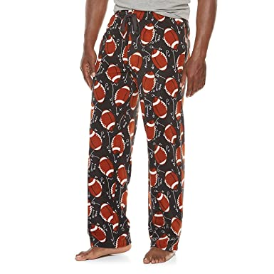 0d582c6c9b9fe Croft & Barrow Men's Football Print Brushed Microfleece Lounge Sleep Pants  Pajama Bottoms ...