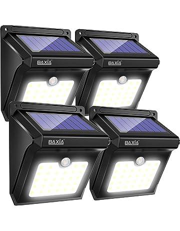 BAXiA Luz Solar Jardín, Luces Solares LED Exterior Impermeable, Focos LED Exterior Solares con