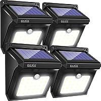 Lampe Solaire Extérieure, BAXiA Applique Solaire Sans Fil Lumière Solaire Imperméable avec Détecteur de Mouvement Lampe de Sécurité pour Jardin