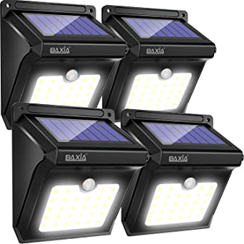 Baxia Luz Solar Jardin Luces Solares Led Exterior Impermeable