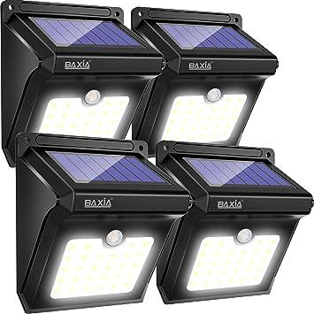 Lampe Solaire Exterieur, BAXiA Eclairage Solaire Sans Fil Lumière ...