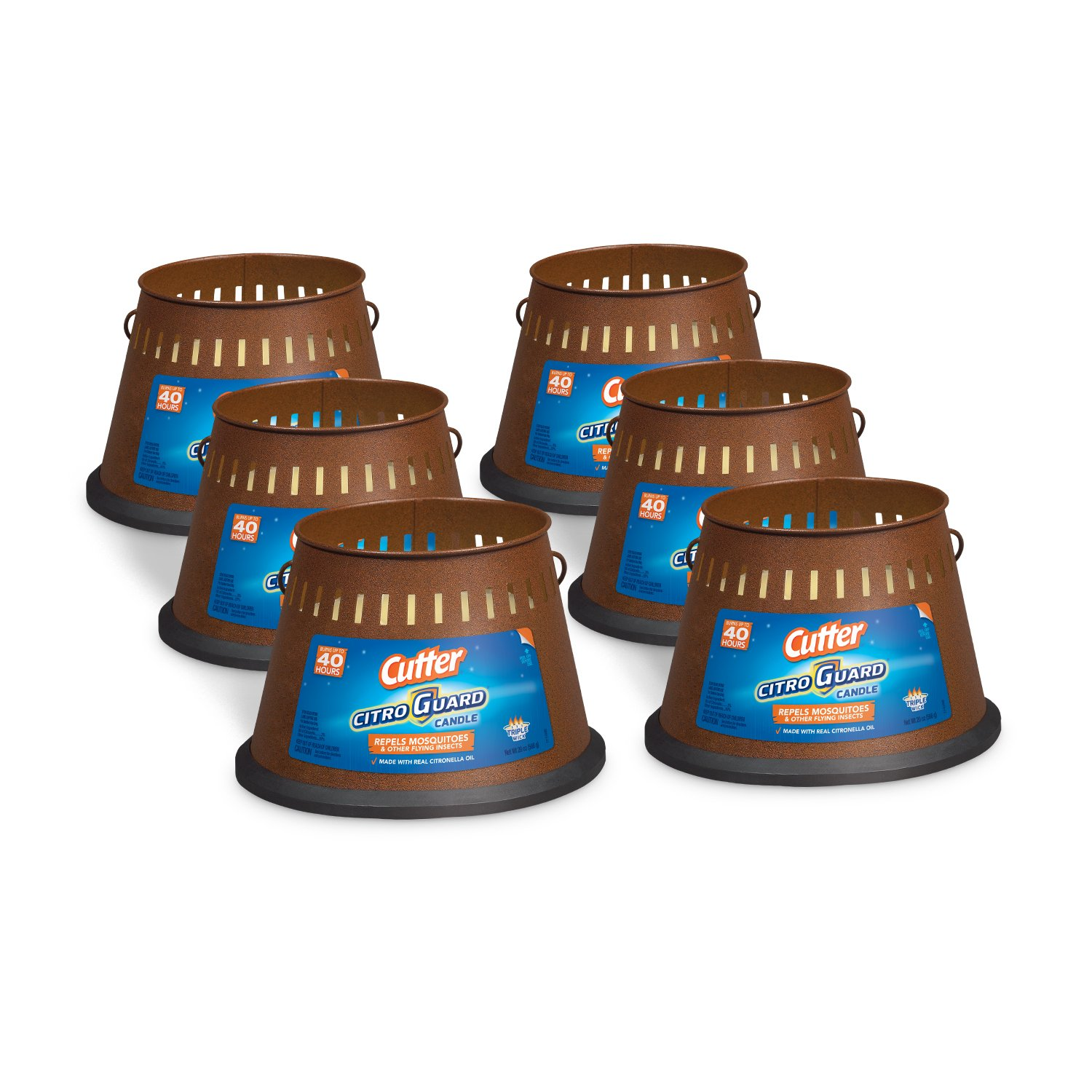 Cutter Citro Guard Candle, Triple Wick, 20-Ounce, 6-Pack by Cutter