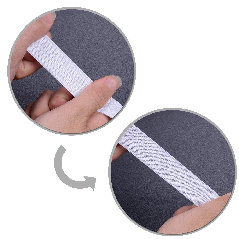 1 Metres Trimming Shop 7 mm di Larghezza Bianco Elastico Nastro per Cucito E Artigianato White Elastico Cavo per gonne e Pantaloni Cinture Bobina Elastico Piatto Cinturino per Abbigliamento