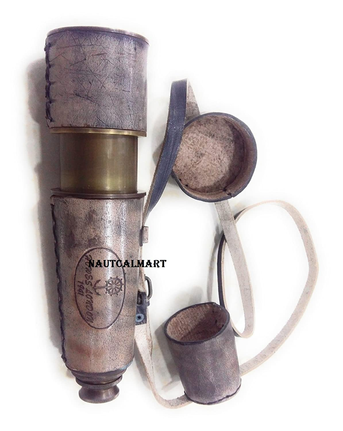 Antique Telescope Engraved  Howes London 1941 from Dollands by Nauticalmart