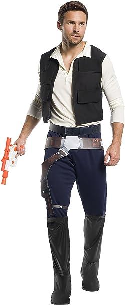 Star Wars Classic Han Solo Mens Costume, Standard: Amazon.es ...