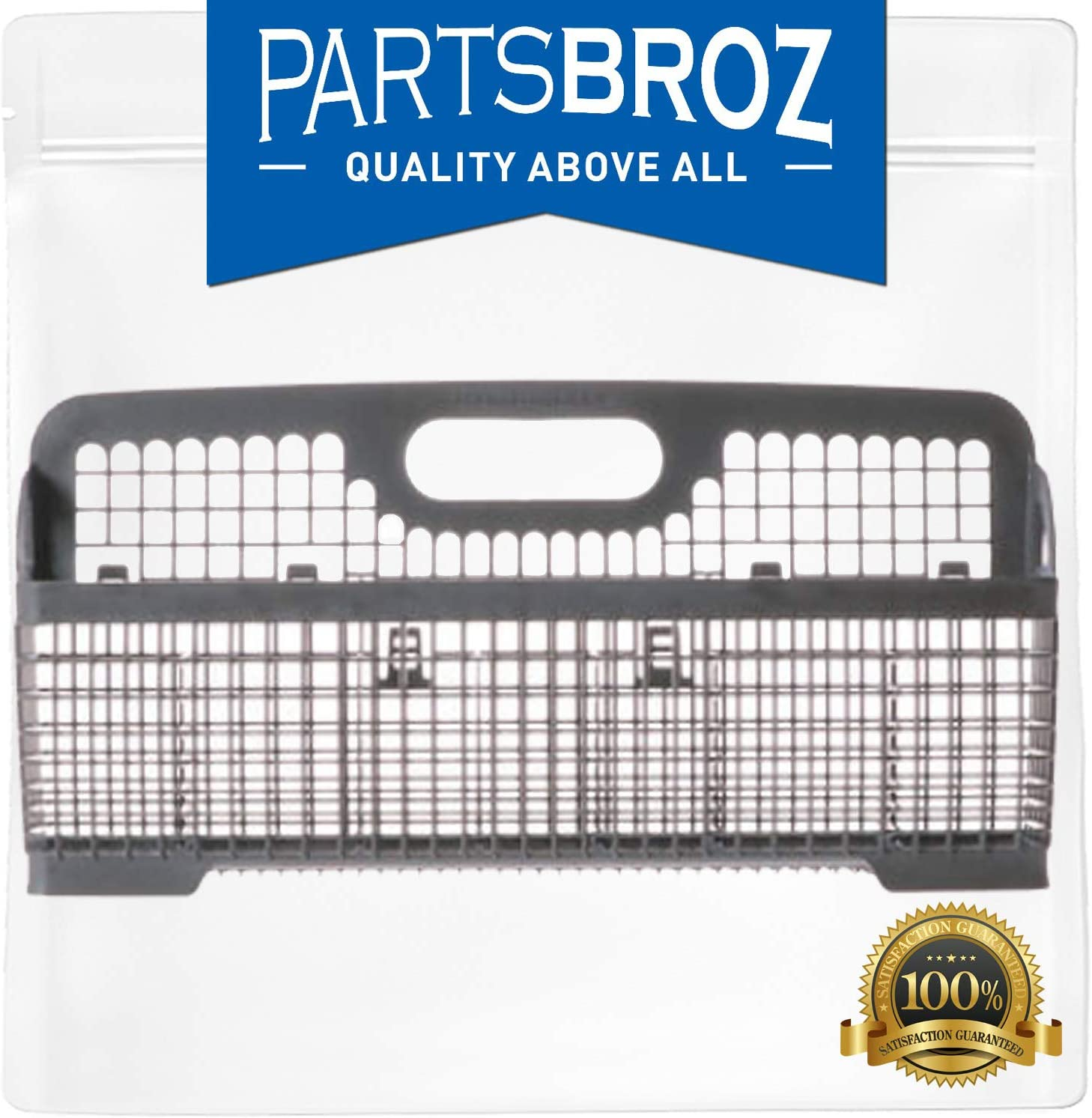 WP8531288 Silverware Basket by PartsBroz - Compatible with Whirlpool Dishwashers - Replaces AP6012914, 8531288, PS11746135