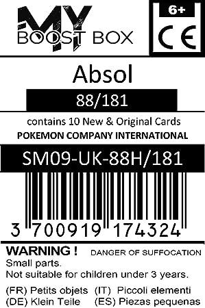 #myboost X Soleil /& Lune 9 Duo de Choc Coffret de 10 Cartes Pok/émon Fran/çaises Absol 88//181 Holo
