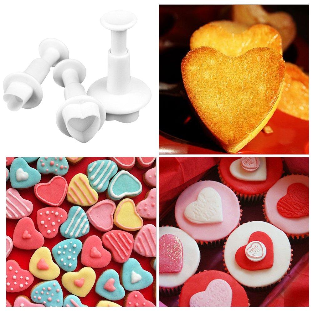 Moldes en forma de corazon para cupcakes y galletas