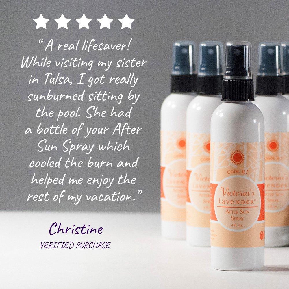 Image result for Victoria's Lavender's Organic Aloe Vera Spray for Sunburn Relief