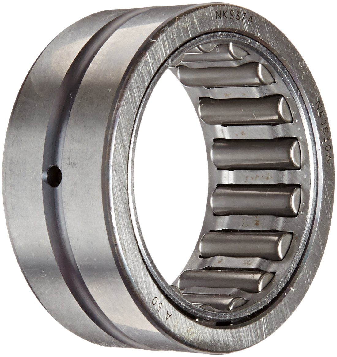 Metric Open 22mm Width 12000rpm Maximum Rotational Speed Outer Ring and Roller 52mm OD 37mm ID Koyo NKS37A Needle Roller Bearing Oil Hole Steel Cage