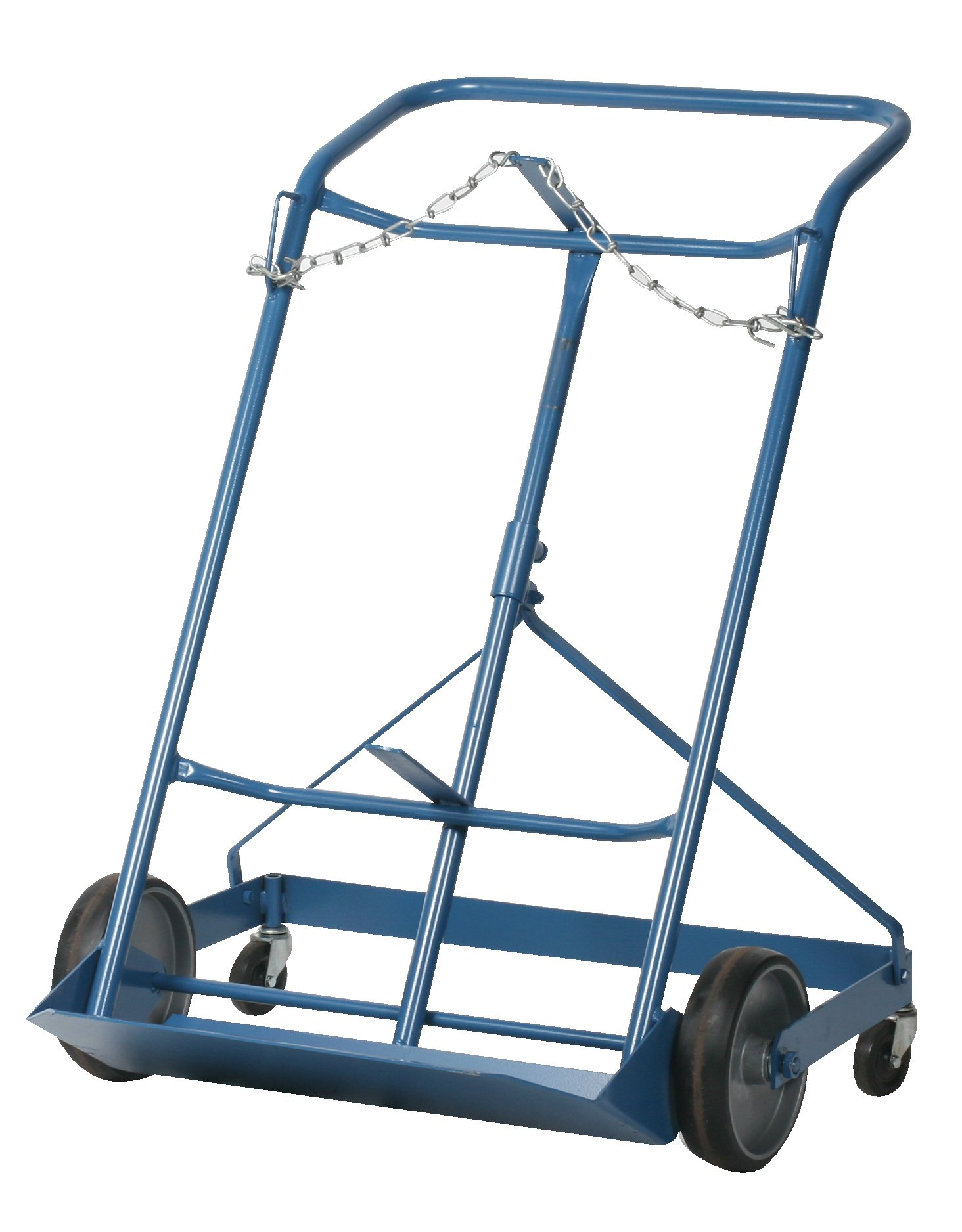 Wesco 210124 Professional Series Steel Cylinder 4-Wheel Hand Truck, Moldon Rubber Wheels, 500-lb.Load Capacity, 29'' Width x 42.25'' Height x 18.5'' Depth