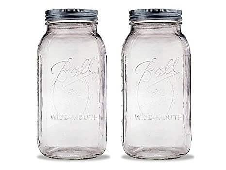 Amazoncom Ball 64 Ounce Jar Wide Mouth 1 Jar Kitchen Dining