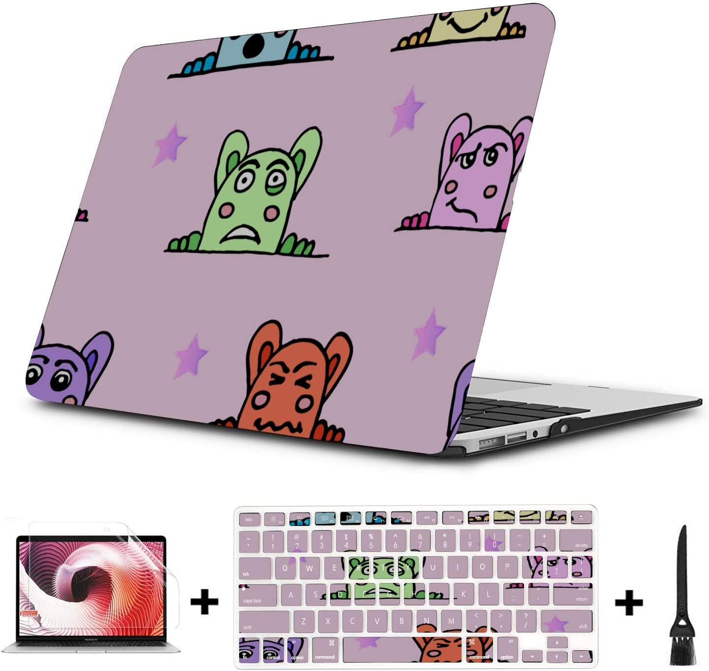2017 MacBook Pro Case Surprise Creative Happy Painting Plastic Hard Shell Compatible Mac Air 11 Pro 13 15 MacBook Air Computer Case Protection for MacBook 2016-2019 Version