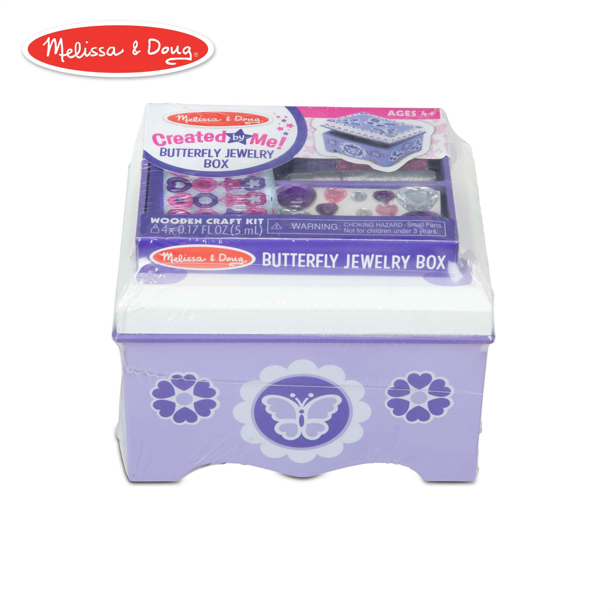 Melissa & Doug Created by Me! Purple Wooden Butterfly Jewelry Box Craft Kit by Melissa & Doug