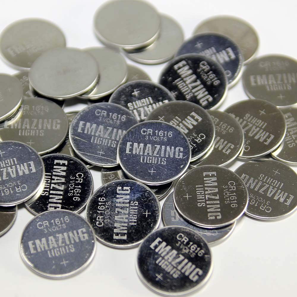 Emazing Lights CR 2016 Batteries (100 Pack) 3v Button Cell Lithium