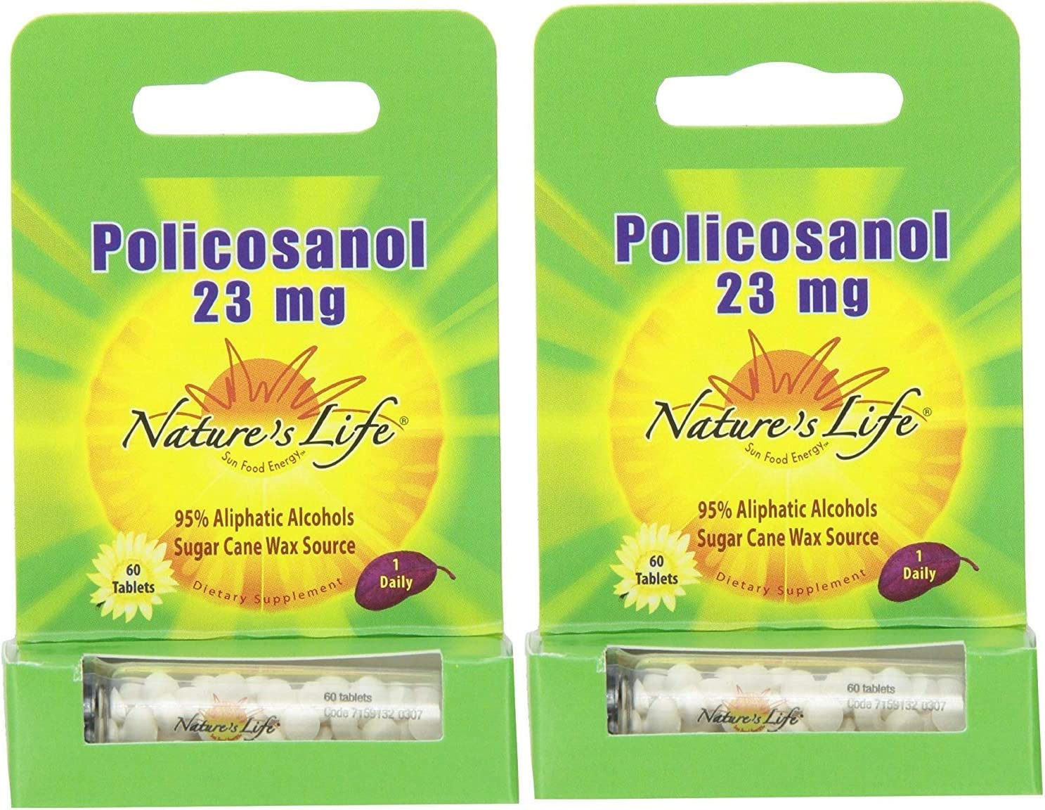 Nature's Life Policosanol Tablets, 23 Mg, 60 Tablet (2 Pack)