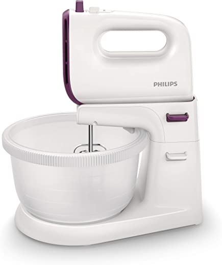 Philips Viva Collection Mixer - HR3745/11, White, Stainless Steel