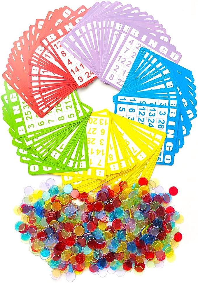 Cartones Bingo Tarjetas System,Bingo Numbers Game,Classic Bingo Cards Fun Family Card Game para Adultos Y Ni/ños