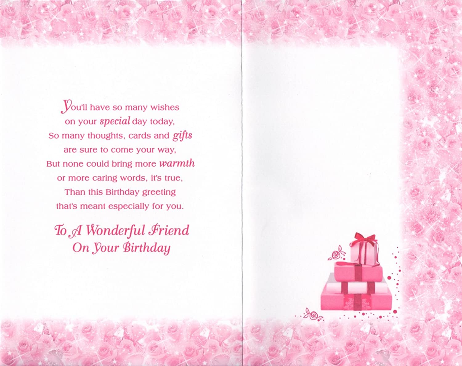 Special friend birthday card to a very special friend on your special friend birthday card to a very special friend on your birthday amazon office products kristyandbryce Image collections