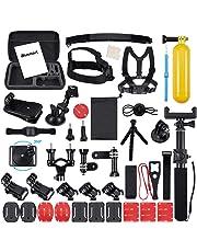 Blusmart 50-in-1 Accessory Kit for GoPro Hero 7 6 5 4 3+ 3 2 1 Hero Session 5 Black AKASO EK7000 Apeman SJ4000 5000 6000 DBPOWER AKASO VicTsing WiMiUS Rollei QUMOX Lightdow Campark and Sony Sports DV