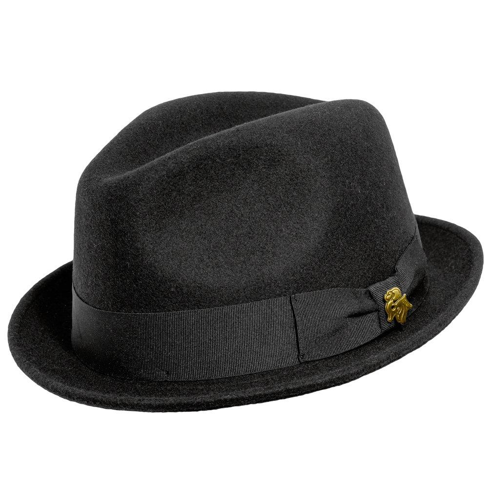 e0cee54df6f8a Bigalli Milano Wool Felt stingy Brim Fedora at Amazon Men s Clothing store