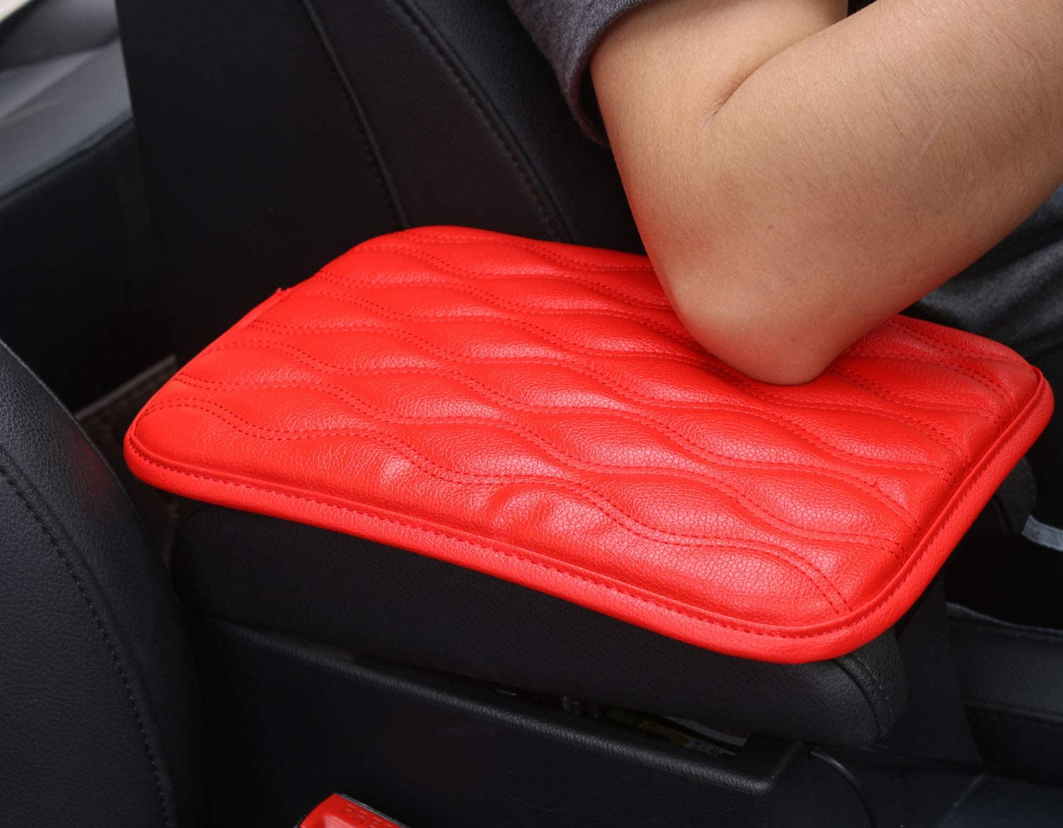 for SUV,Truck,Car Waterproof Armrest Cover Fit for Most Vehicle Auto Armrest Cover Car Armrest Seat Box Cover Mioloe Auto Center Console Pad,Universal Center Console Cover