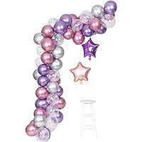 Purple Metallic Chrome Pink Silver Balloons Garland ArchKit 62 PcsUnicorn Theme Wedding&Birthday Decoration Globos Party