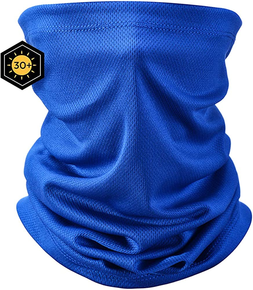 Summer Neck Gaiter Face Scarf Cooler Mouth Cover Sun Protection Mask Bandanas for Dust Running Cycling Hiking Fishing