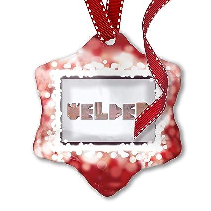 Adorno de Navidad soldador cobre metal art tienda, rojo – Neonblond