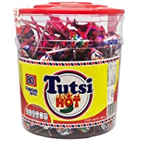 Tutsi Hot paletas de caramelo Tutsi Hot sabor cereza con chile 80 piezas