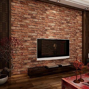 Ketian Papier Peint Texture Effet Mur De Brique En Pvc Motif