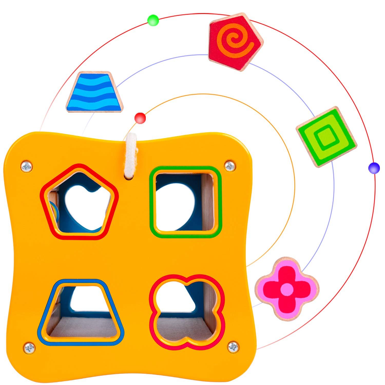 Jahre W/ürfel Spielzeug Aktivit/ätsw/ürfel Rolimate Motorikw/ürfel Holzspielzeug Activity Erlebnis Spielcenter f/ür Babies Lernspielzeug Geburtstag Weihnachten Spielzeug ab 1 2 3