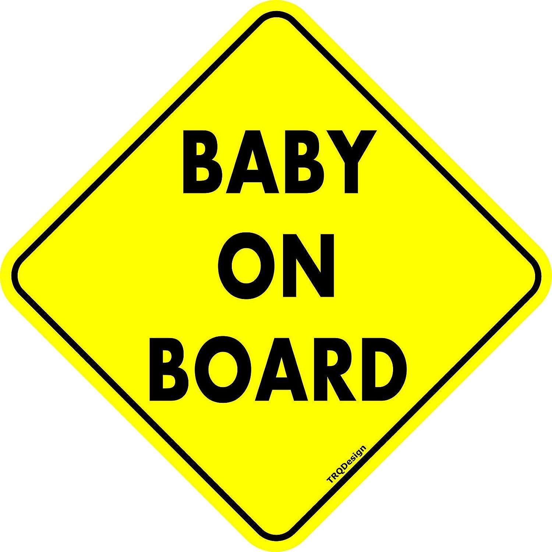 TRQDesign Baby on Board Sign –  Adesivo per auto