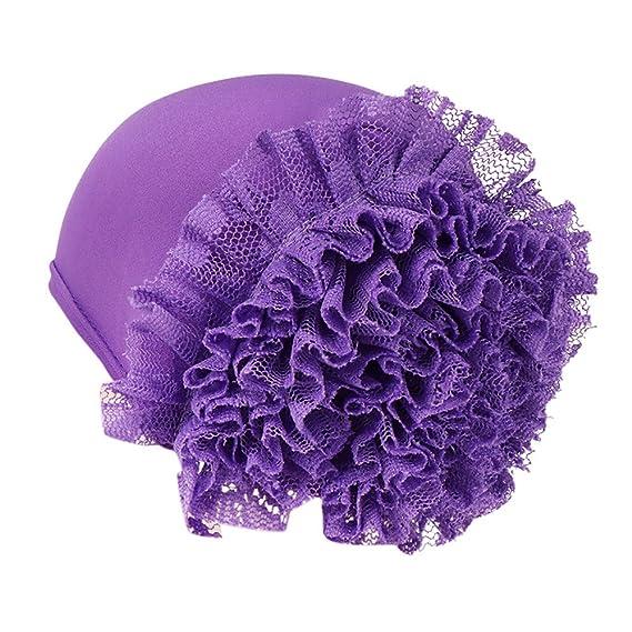 Kobay Cappellino Avvolgente per Donna con Motivo Floreale in India   Amazon.it  Abbigliamento 28aacc7a4e57