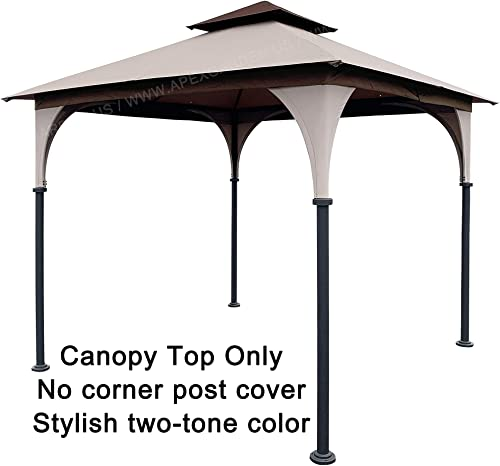 APEX GARDEN Replacement Canopy Top for 8 x 8 Gazebo L-GZ375PST, L-GZ375PST-3