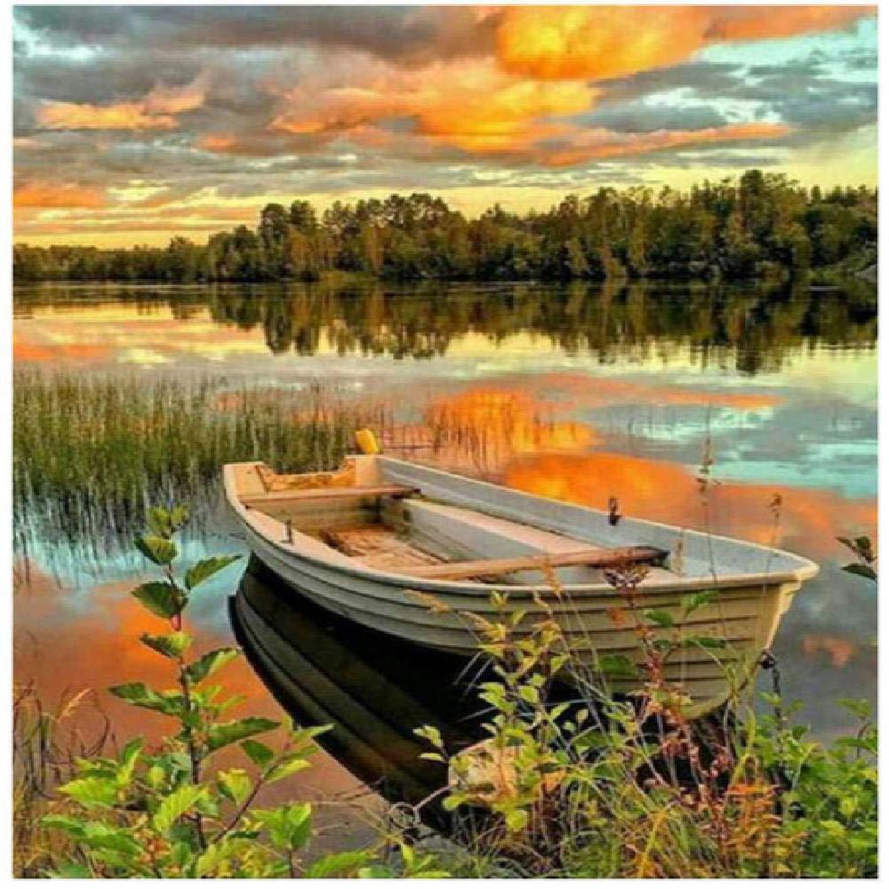 comprar ahora 100x180cm XCSXCSHUA Pintura Digital Sunset Lake Boat, 100X180cm DIY Wall Wall Wall Artwork Picture Decor Decoraciones Regalos Pintura por números Lona Kit  bajo precio del 40%