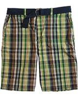 Ecko Unltd. Mens Mystery Plaid Belted Casual Walking Shorts