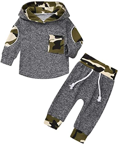 DIGOOD For 0-24 Months,Toddler Baby Boys Girls Dinosaurs Stripe Print Hoodies Tops+Short Pants,2Pcs Outfits Kids Clothes