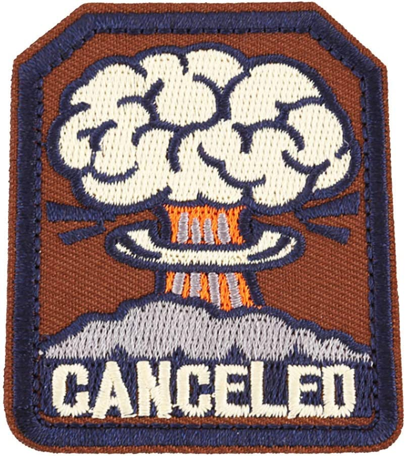 U-Sky Sew or Iron on Max 67% OFF Canceled Patch Inventory cleanup selling sale Patches Nuclear -