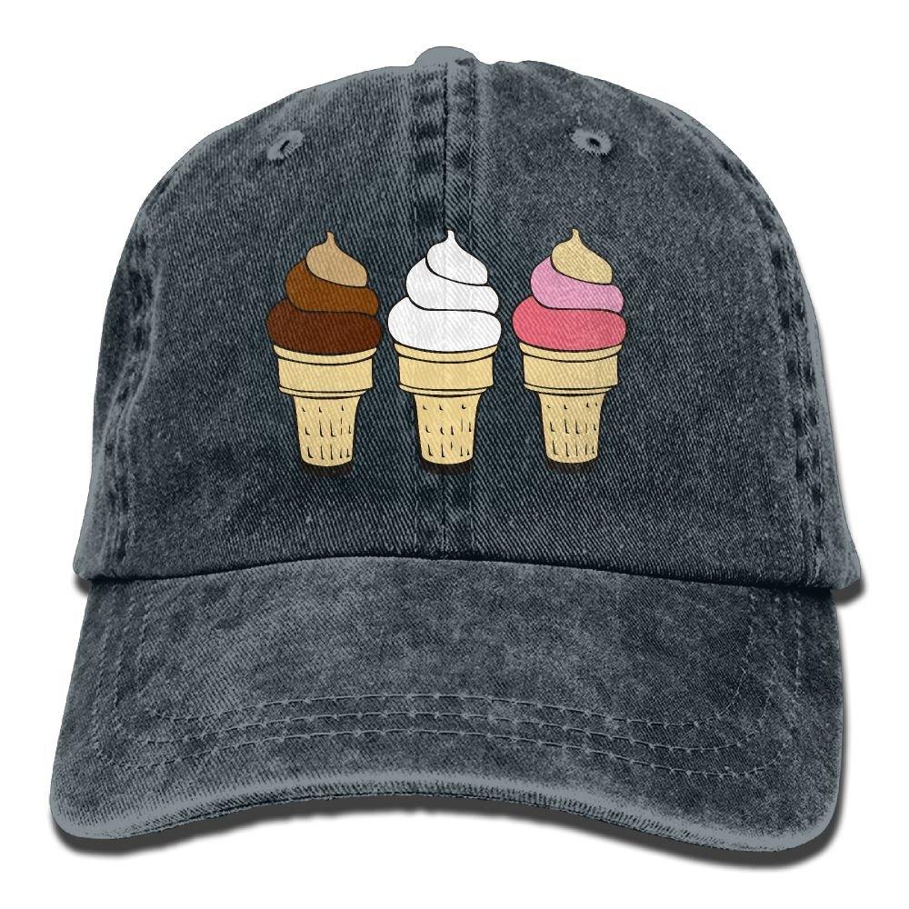 27613c4fda1 Unisex Baseball Cap Hat Ice Cream Cones Vintage Denim Snapback Cap for Men  at Amazon Men s Clothing store