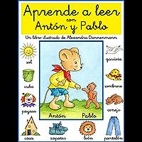 Aprende a leer con Antón y Pablo - Un libro infantil con pictogramas y tipografía escolar. (Spanish Edition)