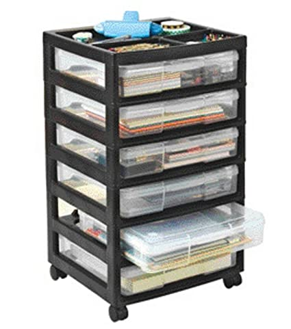 Amazon Iris 150721 Project And Scrapbook Carts 6 Case Chest