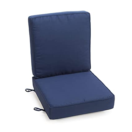Amazon Com Home Improvements Navy Blue Outdoor Patio Chair Deep