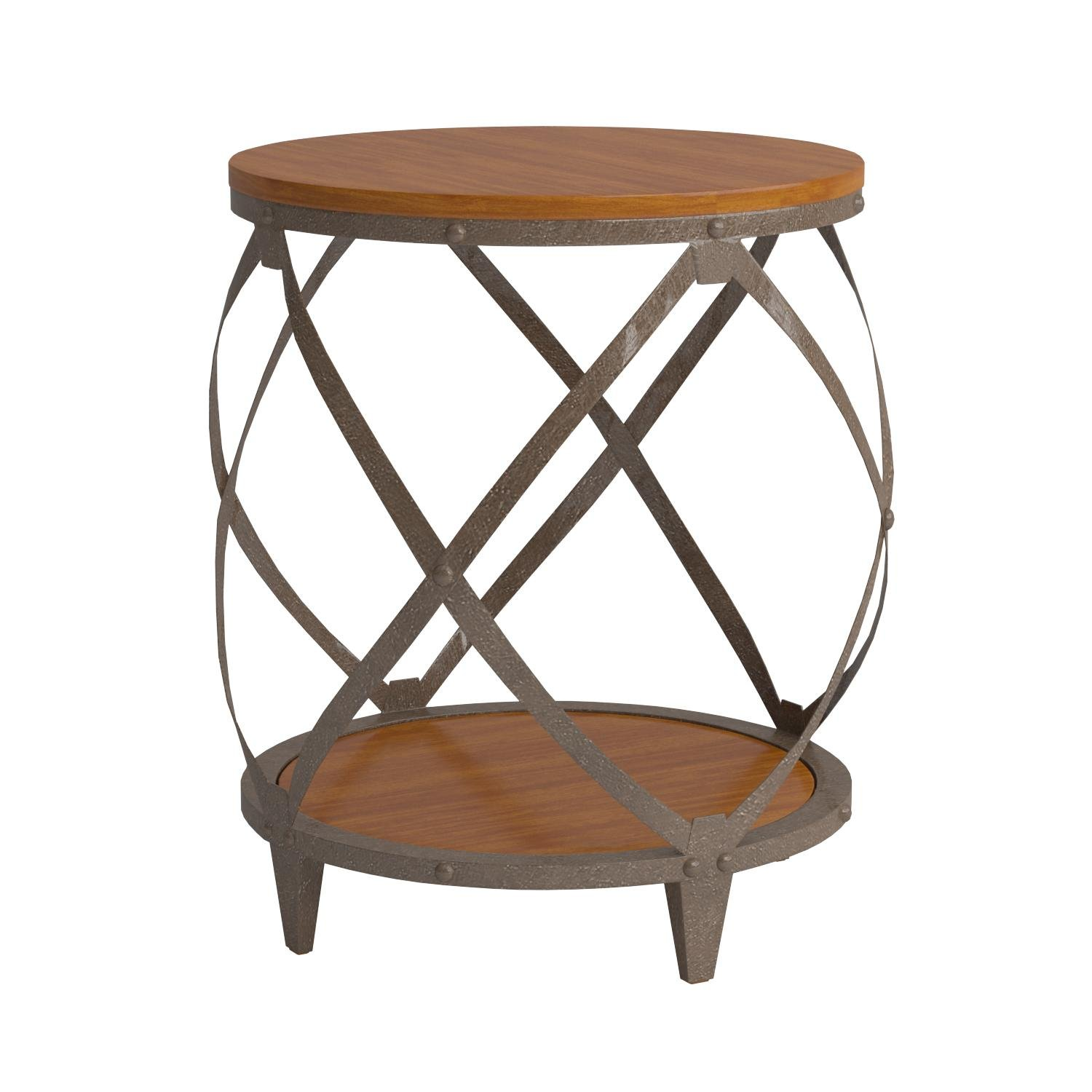Coaster Home Furnishings Casual Accent Table, Oak and Red Brown