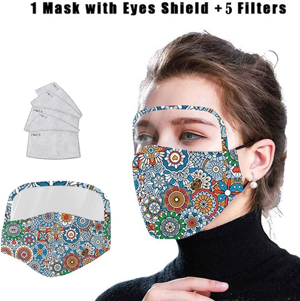 DealinM Halloween Face Protection Bandanas Adult Reusable Washable Face